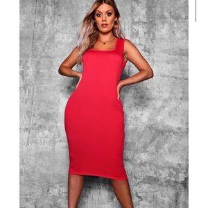 Boohoo Plus Longline Midi Dress